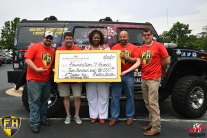 The Foundation 4 Heroes received a 2017 2nd District Kids & Community Grant on June 22. From left: Shawn Davis, Dr. Jay Lipoff, Christine Shelton, Ed Tully, and Troy Lord. Not pictured: Mike Batson. Courtesy Mike Batson Photography (click to enlarge)