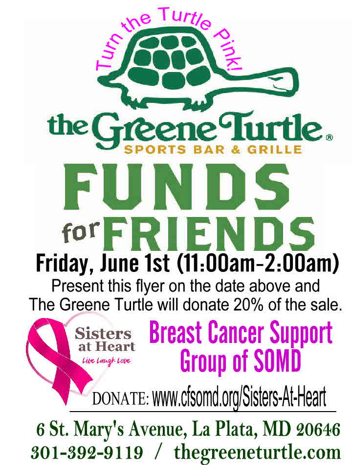 Funds for Friends to support Sisters at Heart Breast Cancer Support Group of SOMD